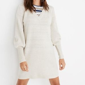 Madewell Bubble-Sleeve Sweater-Dress M